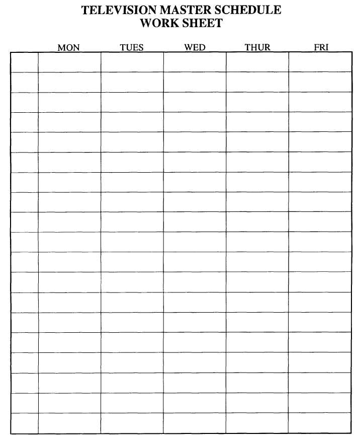 Figure 8-13.-Sample program schedule work sheet.